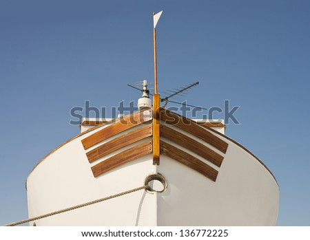 Bow of a boat - stock photo