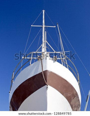 Bow of a tallship - stock photo