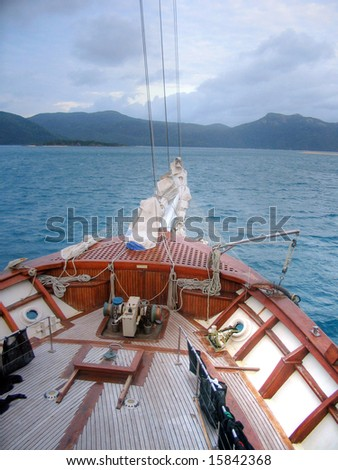 Bow of Yacht - stock photo