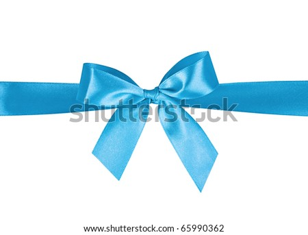 bow on a white background - stock photo