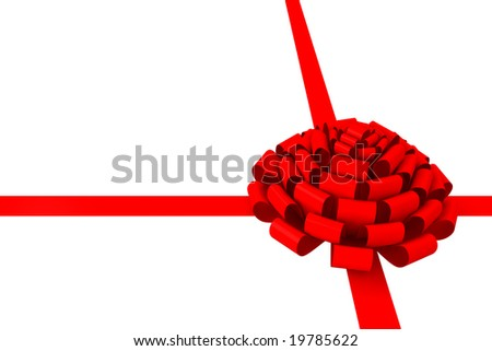 Bow & ribbon isolated