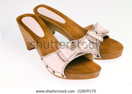 bow shoe - stock photo