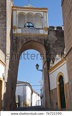 Bow Street in Portugal - stock photo