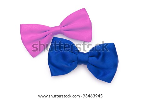 Bow tie isolated on the white - stock photo