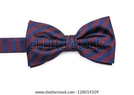 Bow tie isolated on the white background - stock photo