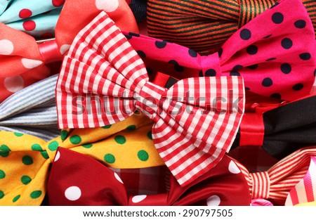 Bow ties pile - stock photo