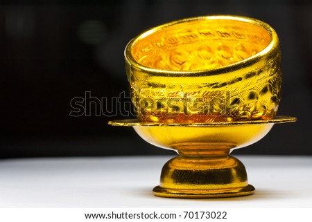 Bowl and tray thai design - stock photo
