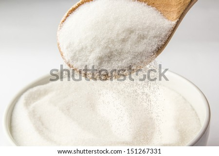 Bowl filled with sugar - stock photo