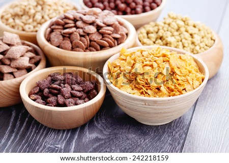bowl full of various cereals - diet and breakfast - stock photo