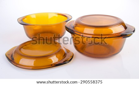 bowl. glass bowl on the background - stock photo