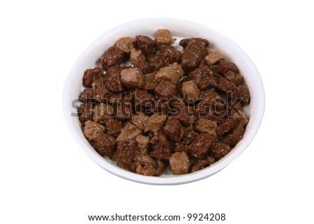 Bowl of animal food - stock photo