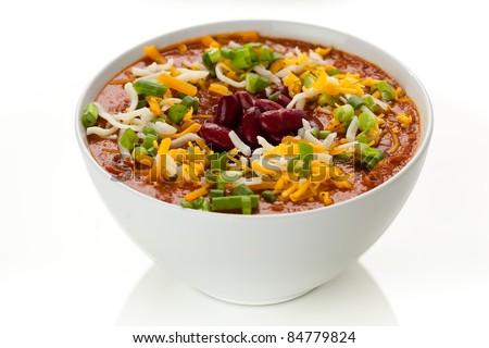 Bowl of Chili 11 - stock photo