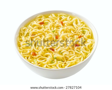 Bowl of Chinese soup - stock photo