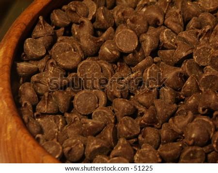 Bowl of Chocolate - stock photo