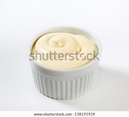 bowl of cream cheese - stock photo