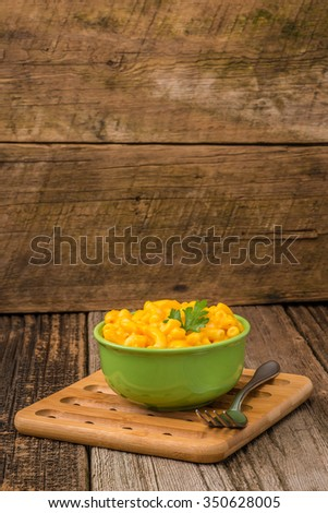 Bowl of homemade macaroni and cheese sauce. - stock photo