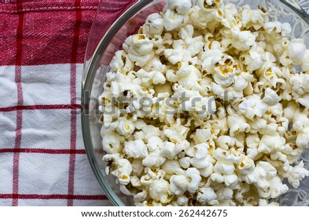 Bowl of homemade popcorn - stock photo