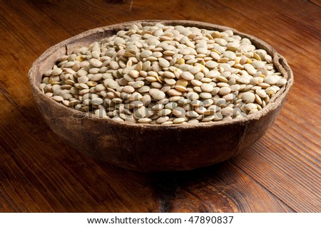 bowl of lentils - stock photo
