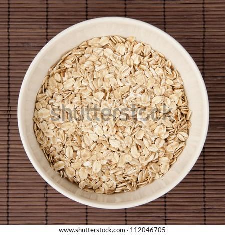Bowl of mountain flakes. - stock photo