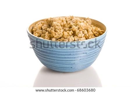 Bowl of muesli - stock photo