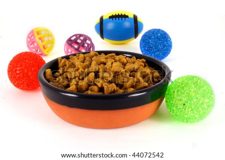 Bowl of Pet Food - stock photo