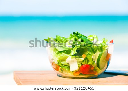 Bowl of salad.  - stock photo