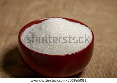 Bowl of sugar