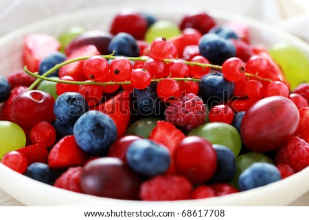 bowl of various berry fruits - fruits and vegetables