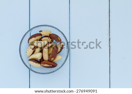Bowl with Brazil nuts - stock photo