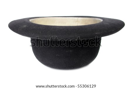 Bowler hat upside down - stock photo