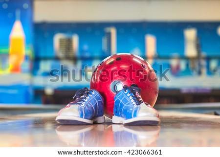 bowling - stock photo