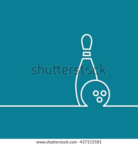 Bowling. abstract background. Pin and ball. The concept of games, entertainment, hobbies and leisure club. - stock photo