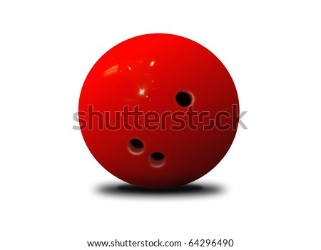 bowling ball - stock photo