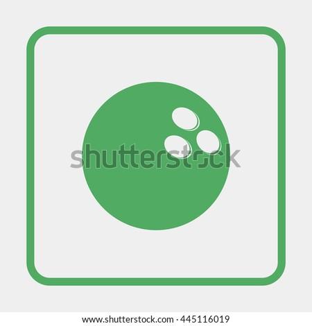 Bowling Ball illustration. - stock photo