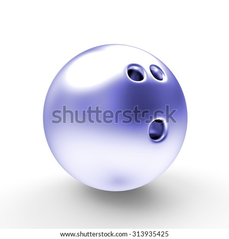 Bowling ball isolated on a white background - stock photo