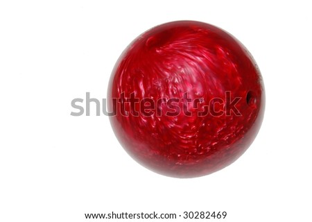 bowling ball isolated on white background - stock photo
