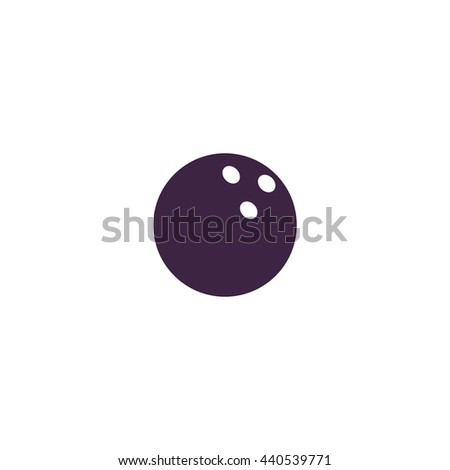 Bowling ball. Simple blue icon on white background - stock photo