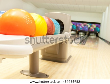 bowling balls in a row