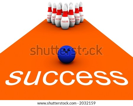 Bowling Business vol 1 - stock photo