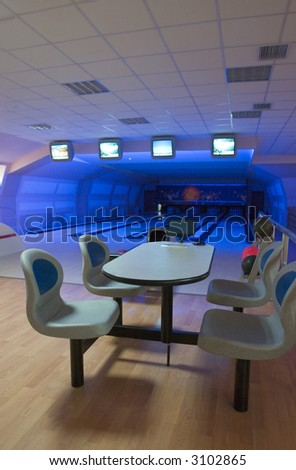Bowling club interior