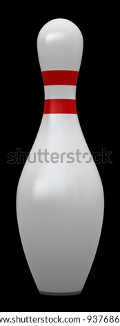 Bowling pin isolated over white background - stock photo