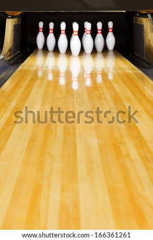 bowling pins - stock photo
