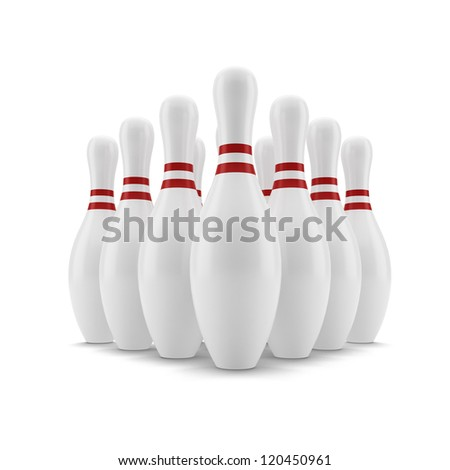 Bowling. Skittles - stock photo