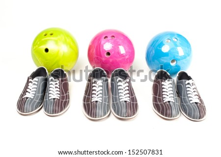 bowling team - stock photo
