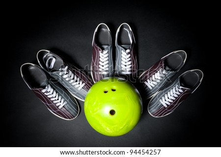 bowling team game - stock photo