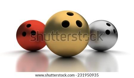 Bowling Winner - stock photo