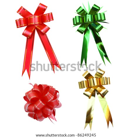Bows collection isolated