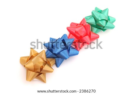Bows for holiday decoration