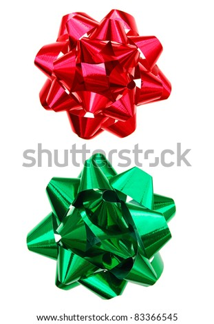 Bows in holiday decorating