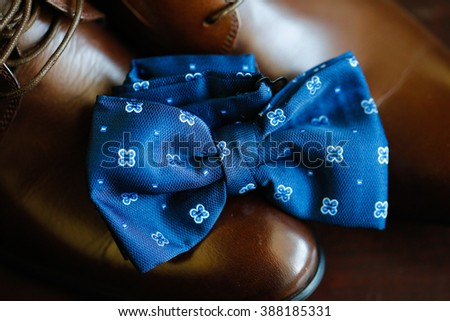 Bowtie and cuff links  - stock photo